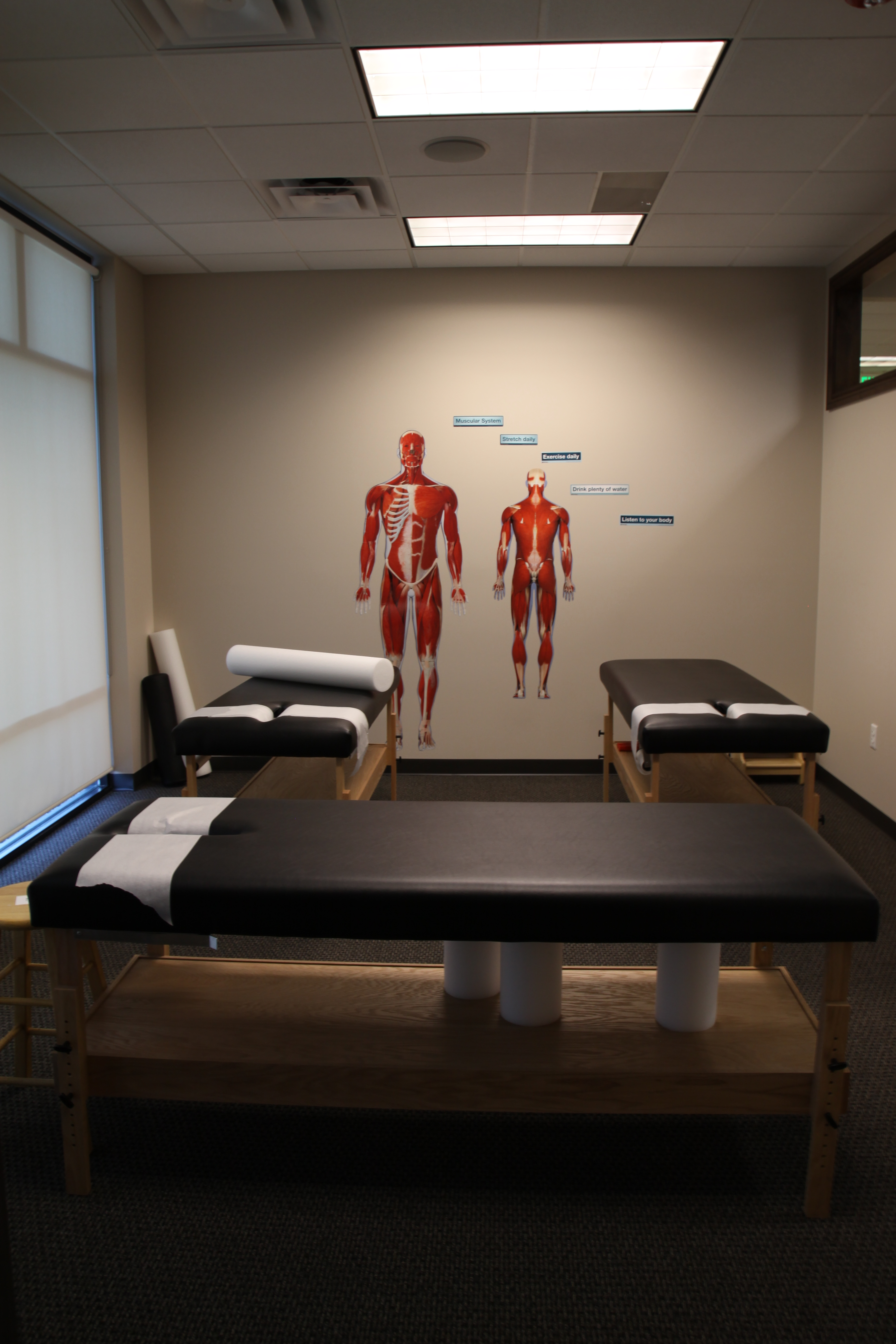 Myofascial therapy room and tables
